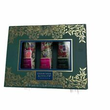 Crabtree & Evelyn 3 PC Hand Therapy Set Festive Fig Pineapple Rose Earl Gray NEW