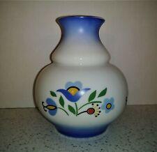 Vintage Bank Gdanski Bankiem Uniweralsalnym Lubiana Poland Ceramic Flower Vase