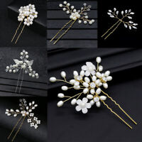 Accessories Gold Prom  Bridal Clips Pearl Hair Pin  Hairpins Bridesmaid Tiara