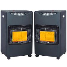 2 x 4.2KW CALOR GAS PORTABLE CABINET HEATER FIRE BUTANE WITH REGULATOR & HOSE