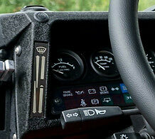 Land Rover Defender Dash Binnacle Heater Fan Control Panels Etched Nickel Black