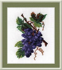 Grapes - Counted Cross Stitch Kit with Color Symbolic Scheme Art:732