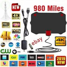 980 Miles Digital TV Antenna Signal Booster Amplifier HDTV Indoor USB 13ft