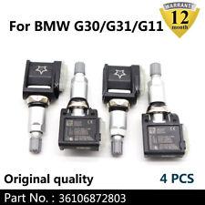 4PCS NEW Genuine TPMS sensor BMW G30 G31 G38 F90 G32 G11 G12 G01 G02 G05