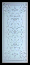 Stunning Etched Glass Victorian Beauty Window In Mahogany Frame