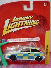 Johnny Lightning Police '03 FORD FOCUS 2003∞White w/Blue&Green☆JL9
