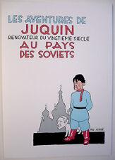 PASTICHE TINTIN : JUQUIN RÉNOVATEUR AU PAYS DES SOVIETS / JALONS, KARL ZÉRO /TBE