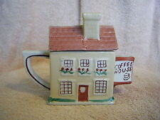 """Chinese """"Coffee House"""" Teapot & Cover Single Serve Beautifully Hand Painted"""