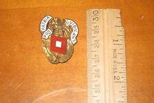 "US Army Signal Corps ""Pro Patria Vigilans"" Unit Crest Enamel Uniform Pin LOOK!"