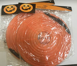 "NEW 2X JACK O LANTERN Honeycomb Paper Lanterns By AmerIcan Greetings 12"" Vtg"