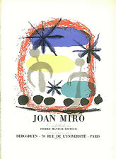 JOAN MIRO CONSTELLATIONS LITHOGRAPH PRINT 9 X 12 INCHES