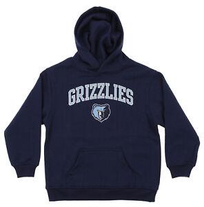 OuterStuff NBA Youth Memphis Grizzlies Fleece Pullover Hoodie, Navy