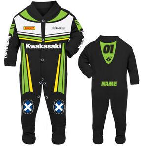 2017 Kwakasaki Baby Biker Race Sleep Suit