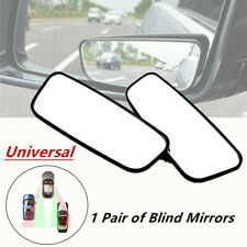 2*Black Side Auxiliary Blind Spot Wide Angle Mirror Small Rearview Car/Van/Truck