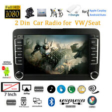 7''2 Din GPS Android Car Radio+Carplay for VW/Seat Siri BT Wifi +CAM FM Airplay