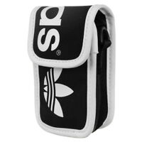 ADIDAS ORIGINALS LINEAR MINI BAG PHONE HOLDER BLACK NECK POUCH iPOD iPHONE CASH