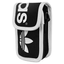 Adidas Originales Lineal Mini soporte para teléfono de bolsa Negro Bolsa De Cuello Ipod Iphone En Efectivo