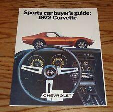1972 Chevrolet Corvette Buyers Guide Foldout Sales Brochure 72 Chevy