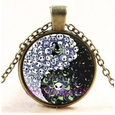 Vintage Nightmare Before Christmas Jack Cabochon Glass Bronze Pendant Necklace