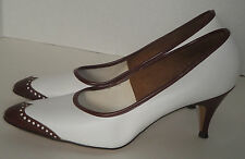 Vintage Brown and White Spectator Shoes Personality 6 1/2