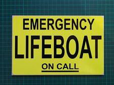Llamada de emergencia bote de rescate de guardacostas dashcard Dayglo Amarillo Adhesivo