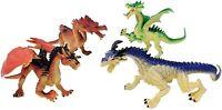 4 Large Dragon Action Fantasy Figures
