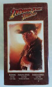 Indiana Jones Trilogy on VHS (Raiders, Temple of Doom, Last Crusade)