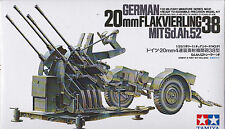 Tamiya 35091 WWII German 20mm Flakvierling 38 Anti-aircraft Gun Scala 1/35