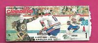 RARE 1992 CANADIENS MONTREAL VS BOSTON TICKET STUB (INV# D1440)