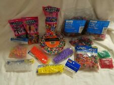 Pony Beads Mixed Lot Many Colors Mostly 9MM Tri-Beads Stars Glow in the Dark