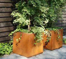 30cm Corten Steel Andes Cube Planter/Garden Plant Pot/Square Flower Container
