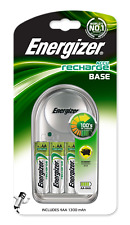 Energizer Base Battery Charger | Inc 4 x 1300mAh AA Rechargeable Batteries