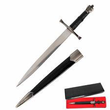 """13"""" Overall Crusader Shield Knights Templar Dagger & Scabbard ."""