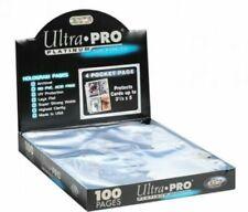 Ultra PRO 4-Pocket Mini Platinum Page Album - Pack of 10
