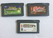 3 Game Boy Advance Game Lot- Backyard Football, 2006, And 2007