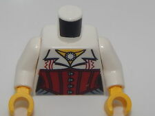 Lego Torso Monster Fighters Blouse with Necklace and Red Corset Pattern #51