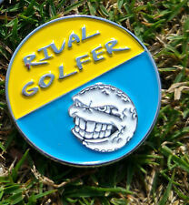 Golf Ball Marker #5 - FIFTY/FIFTY Range - Yellow & Blue