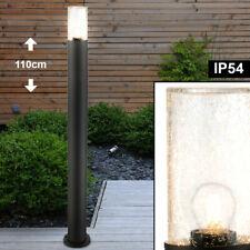 Luxus Außen Bereich Steh Stand Leuchte Grundstück Glas ALU Sockel Garten Lampe