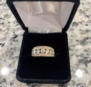 Ladies 14K Yellow Gold 1.50 Carat CTW Diamond Wedding Band Anniversary Ring