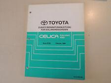 Erg. Reparaturanleitung Kollisionsschäden Toyota CELICA ST 202 204 205 4W Cabrio
