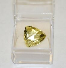 """Green Gold"" Quartz Matched Triangles 16.78 Carats Total Weight"