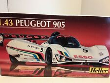 1/43 PEUGEOT 905 LE MANS    , HELLER PLASTIC KIT . Plus free mercedes c9
