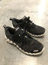 Reebok Zig Tech Black/White Mesh Lace Up Athletic Running Shoes Men's Size 10.5