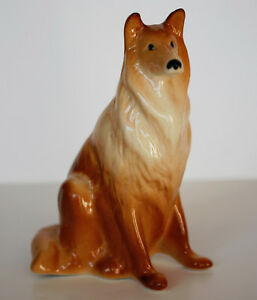 PORCELAIN Figurine DOG COLLIE.SMALL TAN.Hand Painted