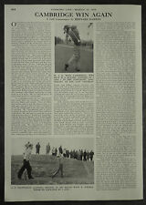 Golf Oxford Cambridge Win Again University Match At Rye 1955 Page Photo Article