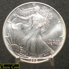 1992 U.S.America Silver Eagle Dollar $1 Uncirculated 1oz Silver*A Few Milk Spots