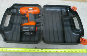 Black & Decker 12v Drill CD1200S Type 1 With Battery And Case Works