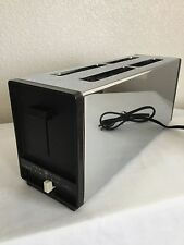 Vintage General Electric 4 slice Toaster Chrome Model A4T127 Auto Popup Works