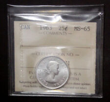 Canada 1963 Elizabeth II 25 Cents  ICCS MS-65   #210149