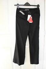 South black linen mix trousers petite short 6 New